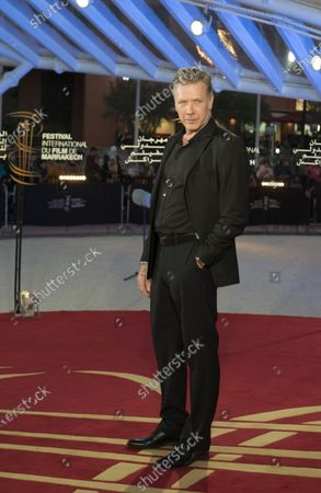 Mikael Persbrandt attends the tribute to French filmmaker Bertrand Tavernier (unseen) at the 18th annual Marrakech International Film Festival, in Marrakech, Morocco, 01 December 2019. The film festival runs from 29 November to 07 December 2019.