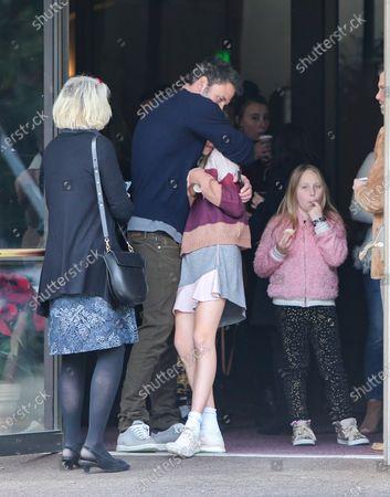 Stock Photo of Christine Anne Boldt, Ben Affleck and Violet Affleck