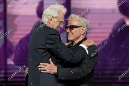 Bertrand Tavernier and Harvey Keitel