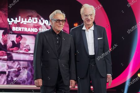 Stock Picture of Harvey Keitel and Bertrand Tavernier