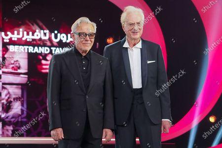 Stock Image of Harvey Keitel and Bertrand Tavernier