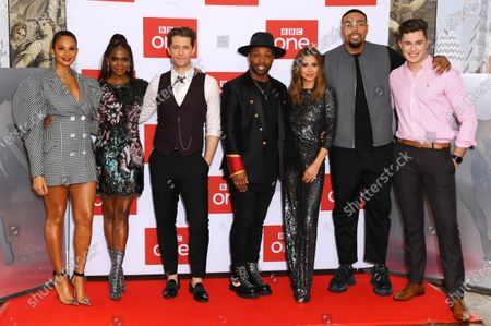 Stock Photo of Alesha Dixon, Otlile Mabuse, Matthew Morrison, Todrick Hall, Cheryl, Jordan Banjo and Curtis Pritchard