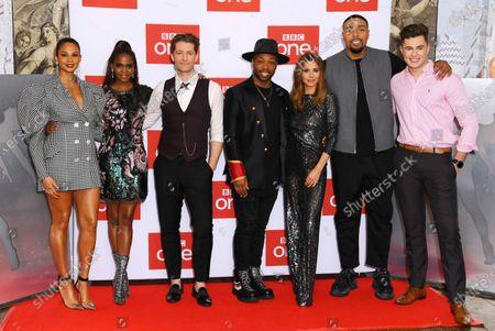 Stock Picture of Alesha Dixon, Otlile Mabuse, Matthew Morrison, Todrick Hall, Cheryl, Jordan Banjo and Curtis Pritchard
