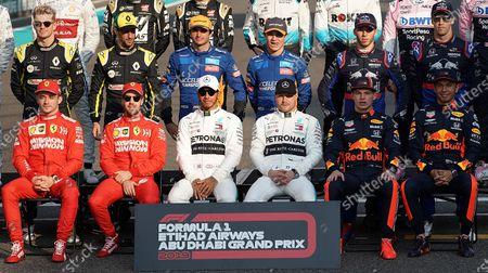 Stock Image of Nico Hulkenberg, Daniel Ricciardo, Carlos Sainz Jr, Lando Norris, Pierre Gasly, Daniil Kvyat