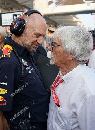 Adrian Newey (Red Bull Racing) and Bernie Ecclestone