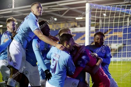 Editorial picture of Shrewsbury Town v Manchester City U21, Leasing.com Trophy, Football, Montgomery Waters Meadow, UK - 03 Dec 2019