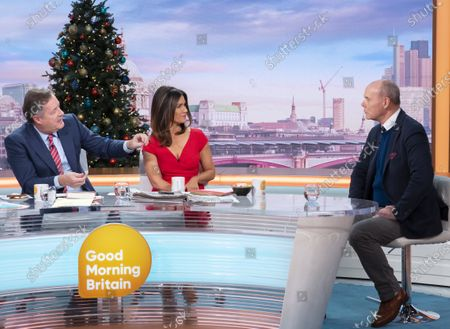 Piers Morgan and Susanna Reid with Sir Clive Woodward