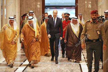 Prince William arrives at Bayan Palace, Kuwait City, for an audience with the Amir of Kuwait, His Highness Sheikh Sabah Al-Ahmad Al-Jaber Al-Sabah