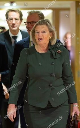Netherland's State Secretary for Justice Ankie Broekers-Knol arrives for a meeting of EU Interior ministers at the EU Council building in Brussels