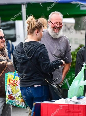 Randy Quaid at the farmers market
