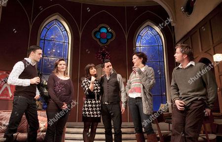 Stock Image of 'The Priory' - Joseph Millson (Daniel), Jessica Hynes (Kate), Charlotte Riley (Laura), Alastair Mackenzie (Ben), Rachael Stirling (Rebecca), Rupert Penry-Jones (Carl)