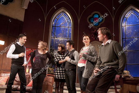 'The Priory' - Joseph Millson (Daniel), Jessica Hynes (Kate), Charlotte Riley (Laura), Alastair Mackenzie (Ben), Rachael Stirling (Rebecca), Rupert Penry-Jones (Carl)