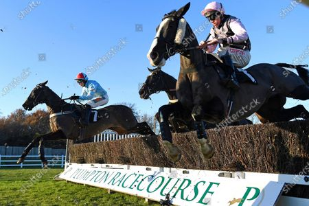 Winner of The Tysers Handicap Chase Tzar De LÕElfe (7)   ridden by James Davies and trained by Richard Rowe during Horse Racing at Plumpton Racecourse on 2nd December 2019