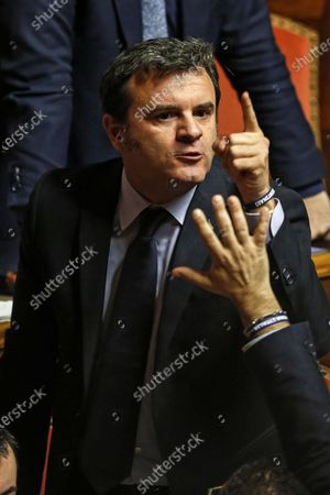 League Senator Gian Marco Centinaio during a session of the Senate in Rome, Italy, 02 December 2019. Italian Prime Minister Giuseppe Conte reported on the European Stability Mechanism (ESM) as coalition infighting deepen on the reform of the eurozone's bailout fund, media reported. Italy's government will hold a vote in parliament about the reform next week.