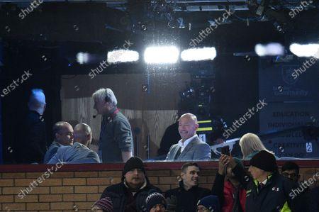 Alan Shearer takes his seat in the Amazon Studio.
