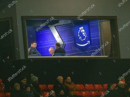 Dimitar Berbatov looks on from the Amazon Prime Premier League studio