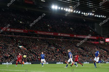 Sadio Mane of Liverpool scores his sides fourth goal to make the score 4-1