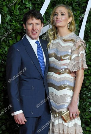 Stock Image of James Blunt and Sofia Wellesley