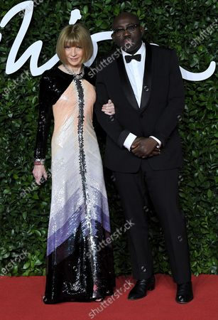 Stock Picture of Anna Wintour and Edward Enninful
