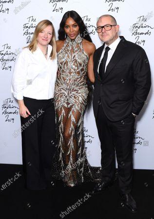Sarah Burton, Naomi Campbell and Sir Jony Ive