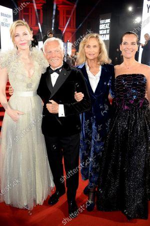 Stock Image of Cate Blanchett, Giorgio Armani, Lauren Hutton and Roberta Armani
