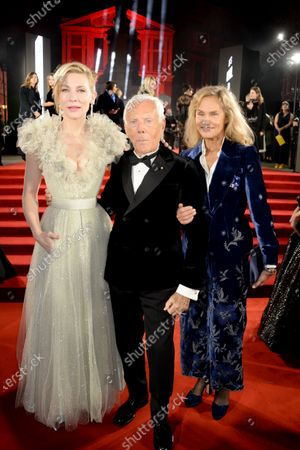 Cate Blanchett, Giorgio Armani and Lauren Hutton
