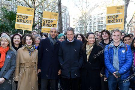 Editorial photo of Hugh Grant and Chuka Umunna Campaigning, London, UK - 02 Dec 2019