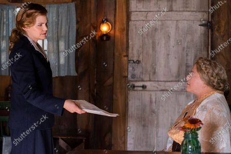 Ginnifer Goodwin as Genevieve and Kathleen Turner as Miss Mary Shaw
