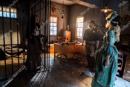 Stock Photo of Vanessa Rubio as Cimmaron Rose, David Denman as Deke Fletcher and Willa Fitzgerald as Maddie Hawkins