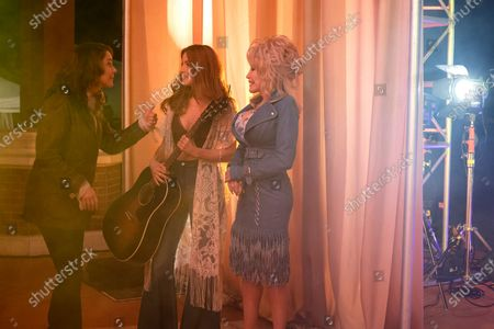 Kimberly Williams-Paisley as Emily, Julianne Hough as Jolene and Dolly Parton