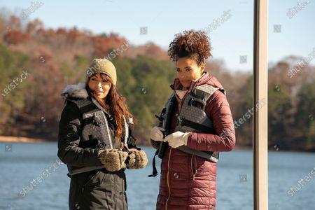 Sarah Shahi as Lucy Jane and Rochelle Aytes as Scarlett