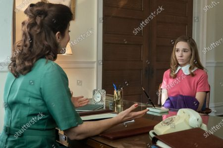 Bellamy Young as Myrna Jorgensen and Holly Taylor as Delilah Covern