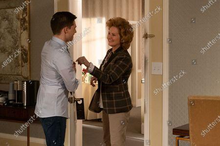 Andy Mientus as Tyler Meegers and Melissa Leo as Amelia Meegers