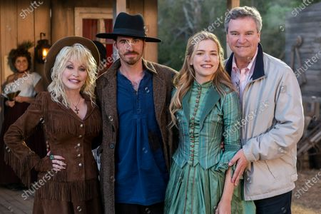 Dolly Parton, Colin O'Donoghue as JJ Sneed, Willa Fitzgerald as Maddie Hawkins and Sam Haskell Producer