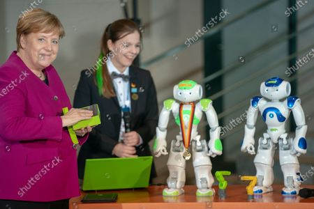 Editorial image of Chancellor Merkel receives WorldSkills participants at the Chancellery in Berlin, Germany - 02 Dec 2019