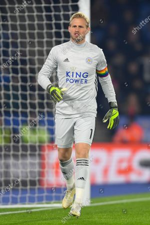 4th December 2019, King Power Stadium, Leicester, England; Premier League, Leicester City v Watford : Kasper Schmeichel (1) of Leicester City Credit: Jon Hobley/News Images