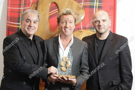 Billy Sloan, John Reid who won Suday Mail Industry award and Pat Kane