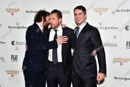 Stock Picture of Adam Sandler, Ben Safdie, and Joshua Safdie
