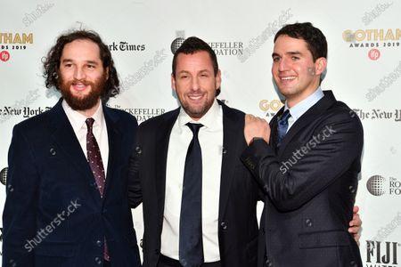 Adam Sandler, Ben Safdie, and Joshua Safdie