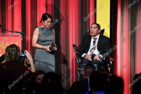 Stock Picture of Anne del Castillo and Jason DaSilva