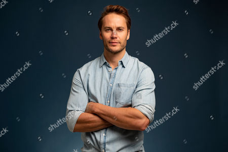 "This photo shows actor Taylor Kitsch posing for a portrait in New York to promote his film ""21 Bridges"