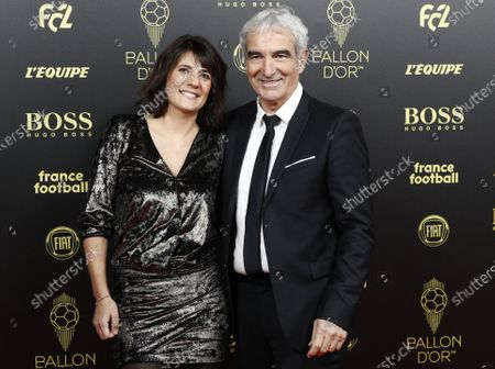 Former French national team coach Raymond Domenech and Denis Estelle arrive for the Ballon d'Or ceremony at Theatre du Chatelet in Paris, France, 02 December 2019.