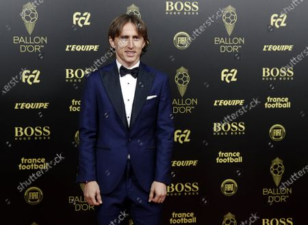 The 2018 winner Luka Modric arrives for the Ballon d'Or ceremony at Theatre du Chatelet in Paris, France, 02 December 2019.