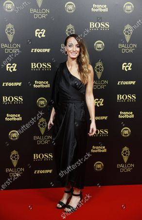 Swedish soccer player Kosovare Asllani of Spanish club CD Tacon arrives for the Ballon d'Or ceremony at Theatre du Chatelet in Paris, France, 02 December 2019.