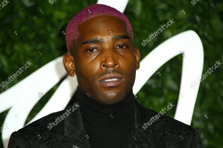 Stock Image of Tinie Tempah poses for photographers upon arrival at the British Fashion Awards in central London