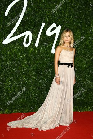 Lady Amelia Windsor poses for photographers upon arrival at the British Fashion Awards in central London