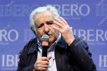 Uruguayan former President Jose Mujica speaks during a press conference before the ceremony where he will receive an Honoris Causa doctorate at the Ibero-Americana University, in Mexico City, Mexico, 02 December 2019.