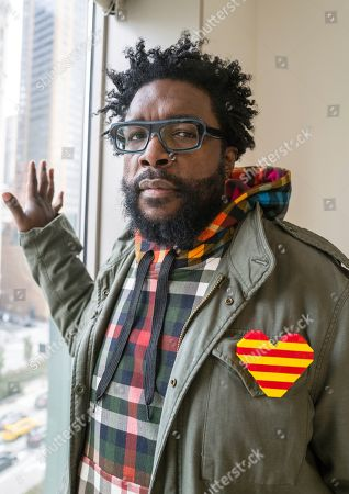 "Stock Image of This photo shows Questlove posing for a portrait in New York to promote his cookbook ""Mixtape Potluck"