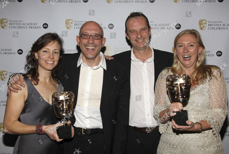 Phil Cornwell with 'Best Entertainment' Carolyn Payner and Tina Gortmans for 'Election'