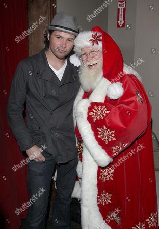 Michael Johns and Santa